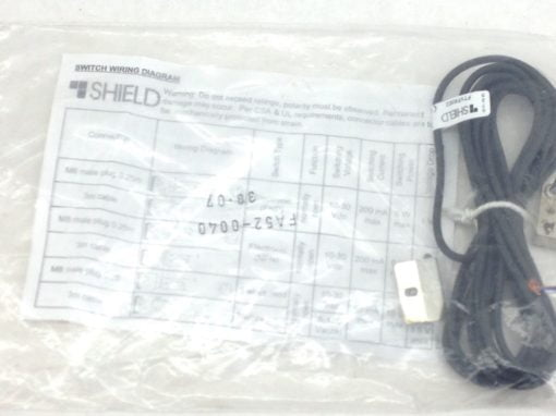 SHIELD FTVF83E2 PROXIMITY SENSOR SWITCH 10~30VDC / 3m with FA52-0040 (A840) 1