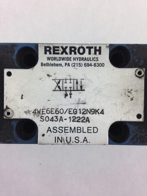 REXROTH 4WE6862/EG24N9K4/B08 SOLENOID HYDRAULIC VALVE FAST SHIPPING (208) 2