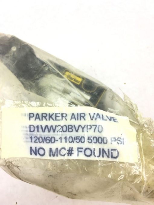 NEW PARKER HYDRAULIC SOLENOID AIR VALVE D1VW20BVYP 70, FAST SHIPPING! B53 2