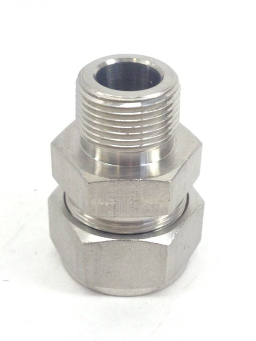 """PARKER A-LOCK 16 HDBD HDEK STAINLESS STEEL CONNECTOR PARKER 1"""" TO 3/4″(A18) 1"""