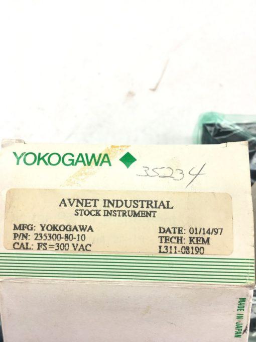 NEW IN BOX YOKOGAWA 235300-80-10 AC Voltmeter, FAST SHIPPING! (B229) 2