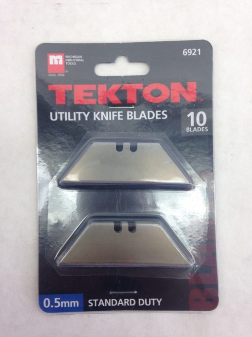 TEKTON 6921 UTILITY KNIFE BLADES BOX OF 10 PACKS OF 10 TOTAL OF 100 BLADES (F28) 2