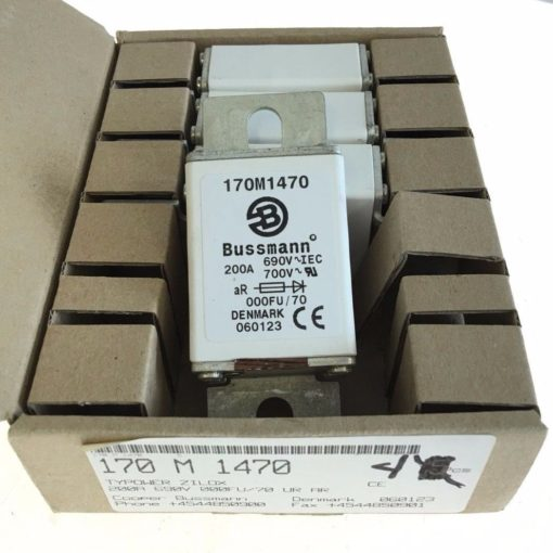 NEW BOX OF 4 COOPER BUSSMAN 170M1470 Semiconductor Fuses 690VAC, 200A, (F63) 2