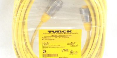 TURCK RSV RKV 30-10M/S90 MINI FAST CABLE ASSEMBLY STRAIGHT, MALE TO MALE (H64) 1