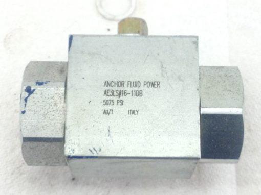"NEW! ANCHOR FLUID POWER AE3S#16-11DB 3-WAY BALL VALVE 5075 PSI 1"" NPT (HB4) 1"