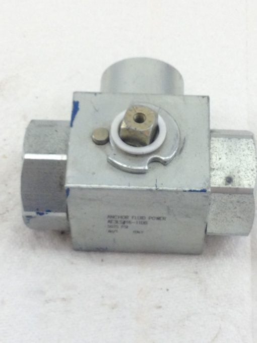 "NEW! ANCHOR FLUID POWER AE3S#16-11DB 3-WAY BALL VALVE 5075 PSI 1"" NPT (HB4) 2"