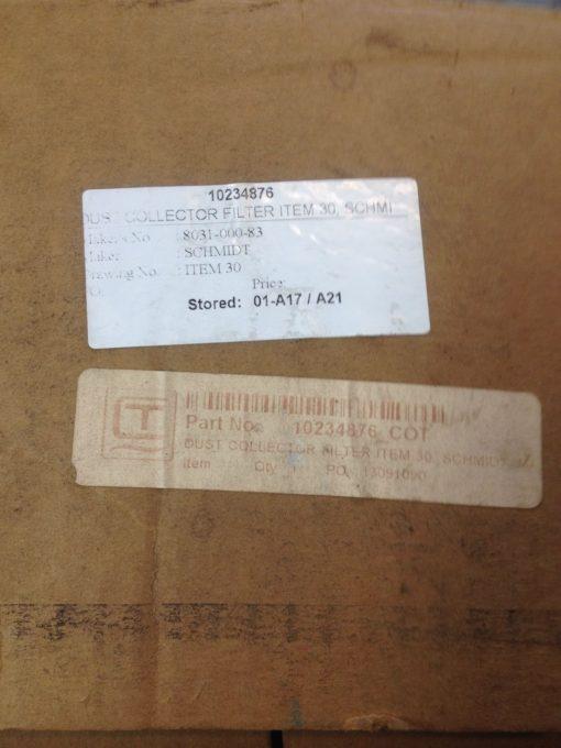NIB! USF-SCHMIDT 8031-000-83 DUST COLLECTOR FILTER ELEMENT FAST SHIP!!! (PLIST 2